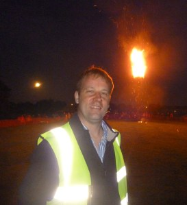 Ashley pictured at the Jubilee Beacon event organised by team of local people led by Ashley himself.
